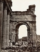 PALMYRA: TRIUMPHAL ARCH.Facade of the triumphal arch at Palmyra, Syria. Photograph, late 19th century.