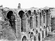 ROME: PALATINE HILL.Ruins of the imperial palace on Palatine Hill, Rome. Photograph, late 19th century.