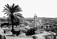 JERUSALEM: CITYSCAPE.View of Jerusalem from the southwest. Photograph, early 20th century.