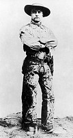 THEODORE ROOSEVELT(1858-1919). 26th President of the United States. Posing as a cowboy while living as a gentleman rancher in North Dakota, 1885.