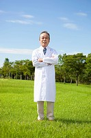 Portrait of Doctor in Field