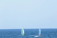 Windsurfing at sea