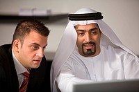 laptop, business, computer, businessmen, businessman, Arabic