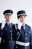 Guards raising fingers