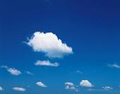 Clouds in blue sky, Tokyo prefecture, Japan