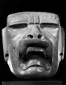 A stone sculpture from the Gulf Coast of Mexico, made by the Olmec culture which flourished 1300_400 B.C.