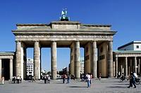 Brandenburger Tor in Berlin. The Brandenburg Gate in Berlin.