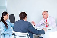 Businesspeople discussing in a meeting