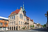 The city hall of Bueckeburg, Lower Saxony, Germany, Europe