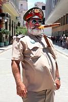 Representing street artist Ernest Heminguey in Old Havana, Havana, Cuba