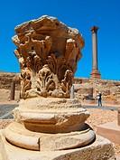 Capital & Pompey´s Column, Serapeum, Alexandria, Egypt