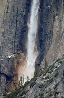 Rainbow in Upper Yosemite Fall, Yosemite Valley, Yosemite National Park, California