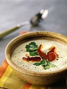 cauliflower soup with Magret