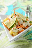 Marinated fish with lime and coconut