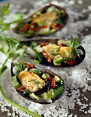 Mussels stuffed with vegetables