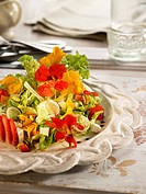 Nasturtium and strawberry salad