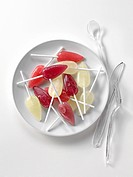 Lollipops on a plate