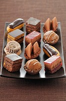 Selection of chocolate Petit fours