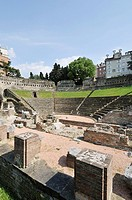 Trieste  Italy  Remains of the Roman amphitheatre  Teatro Romano