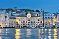 Trieste  Italy  View of the City Hall & Piazza dell'Unita d'Italia from the Molo Audace