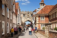 Cathedral Close and High Street Gate, Salisbury, Wiltshire, England, UK