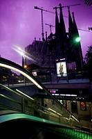 Subway station, Sagrada Familia, Barcelona, Catalonia, Spain