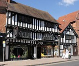 Shops in Wood Street Stratford Upon Avon Warwickshire