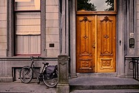 Bicycle and door, Utrecht, Netherlands