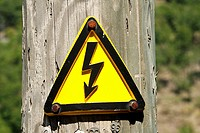 high voltage warning sign - canton of ticino - switzerland