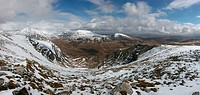 Looking across Coirean Ban on Breabag to Conival and Ben More Assynt