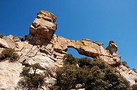 A natural, rock arch on Mount Lemmon, Santa Catalina Mountains, Coronado National Forest, Sonoran Desert, Tucson, Arizona, USA