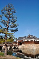 Hiroshima (Japan): building at the entrance of the Hiroshima Castle