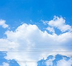 blue sky reflected