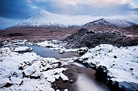 Sgurr Mhairi - Glamaig and Red Cuillins in winter, Isle of Skye, Scotland