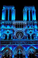 'Le Parvis des Gentils', a light show by the lighting designer Benoît Quero/Spectaculaires, immense projections of images on the facade of Notre-Dame ...