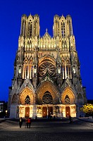 Notre-Dame de Reims Our Lady of Rheims, the Roman Catholic cathedral of Reims, Marne, Champagne-Ardenne, France