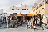 Greece, Cyclades, Thira, Santorini, Tourist shops of oia