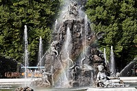 Germany, Upper Bavaria, View of fountain