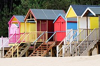 Beach Huts at Wells-Next-The-Sea, Norfolk, England, UK