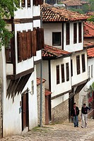 Turkey, Safranbolu, street scene, traditional, houses.