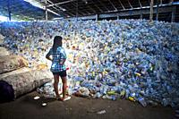 Plastic recycling facility on Bali