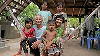 CAMBODIA. Children with their grandparents  CRS supports a local NGO called CEDAC  Their integrated development approach is raising many farmers out o...