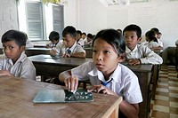 CAMBODIA. Village primary school  Inclusive education: CRS works with local education authorities to include children with physical disabilities in re...