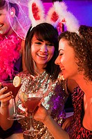 Young women on hen night