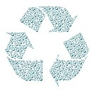 Recycle Symbol Water Drops