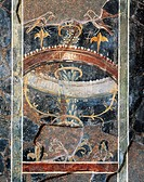 Roman civilization. Roman fresco from Casa Angelini, Bergamo.  Bergamo, Museo Civico Archeologico (Archaeological Museum)