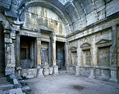 France - Languedoc-Roussillon - Nîmes. Roman temple of Diane. Interior