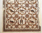 Roman civilization, 2nd century A.D. Mosaic medallions with xenia (still life) motif. From Thysdrus (El Djem, Tunisia). Detail with fish and game.  So...