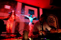 Dancers perfom in MIX a popular night club in downtown Kunming  Kunming  China