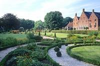 Netherlands, Holland, Europe, Groningen, Uithuizen, Menkemaborg, castle, garden, park